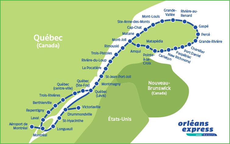 Bien-aimé Orléans Express – Découvre le Québec en bus – Nouvelle vie en PVT  CZ77